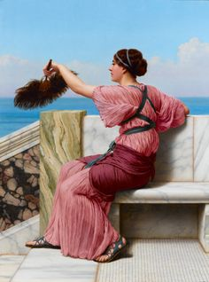 John William Godward - A Signal. This and more important fine art for sale on CuratorsEye.com