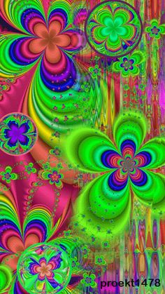 PSYCHEDELIC FLOWER POWER GIF