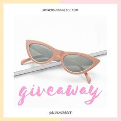 BLUSHGREECE (@blushgreece) • Φωτογραφίες και βίντεο στο Instagram Giveaways, Instagram Feed, Cat Eye Sunglasses, Fashion, Moda, Fashion Styles, Fashion Illustrations