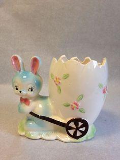VTG Arnart  Easter Holiday  Ceramic Bunny Rabbit Planter  Japan     56493 #Arnant #Holiday