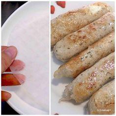 【nanapi】 鶏ムネ肉のミンチを使った、お財布に優しくヘルシーなソーセージの作り方をご紹介します。羊腸の代わりにライスペーパーでタネを包んで焼くので、自家製の腸詰めレシピよりも手軽に作れますよ。多めに作っておいて、焼く前のものを冷凍することも可能です。冷凍してもライスペーパーの食感は変わ...