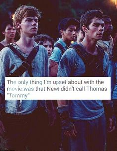"""And that Newt didn't say """"Great. We're all bloody inspired."""" And that Newt was a side character that didn't really matter."""