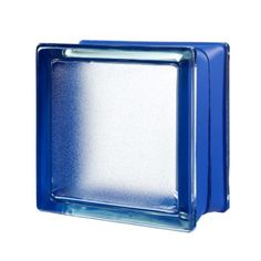 5 Pack Blue Smooth Satin Pegasus Q19 Metric Glass Blocks