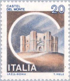Sello: Castles- Castel del Monte (Italia) (Castles) Mi:IT 1703,Sn:IT 1410,Yt:IT 1435,Sg:IT 1651,Un:IT 1506