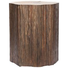Union Rustic Designed to simulate a tree stump, this end table recreates the natural texture and bark with contrasting light top. Crafted of renewable Bayur wood, Peoria exudes the rugged authenticity of rustic style. Furniture Deals, Modern Furniture, Furniture Showroom, Leather Furniture, Quality Furniture, Furniture Design, Rustic End Tables, Side Tables, Stump Table