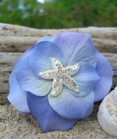 Hey, I found this really awesome Etsy listing at https://www.etsy.com/listing/186512199/starfish-hair-clip-classic-hydrangea