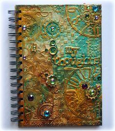 Video Tutorial: Steampunk Journal Cover http://cheerylynndesigns.blogspot.com/2014/01/video-tutorial-steampunk-journal-cover.html?utm_source=feedburner&utm_medium=email&utm_campaign=Feed%3A+CheeryLynnDesignsBlog+%28Cheery+Lynn+Designs+Blog%29