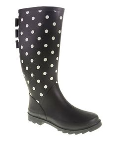 Black Polka Dot Roxette Rain Boot by Dirty Laundry by Chinese Laundry #zulily #ad *love