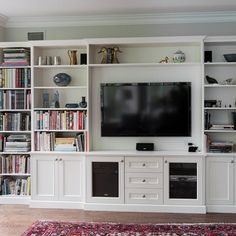 Built In Tv Units Design Ideas, Pictures, Remodel, and Decor - page 2 unit Makeover in tv unit Living Room Built Ins, Living Room Bookcase, Living Room Wall Units, Bookcase Wall Unit, Built In Bookcase, Built In Storage, Bookshelves, Built In Wall Units, Built In Entertainment Center