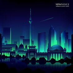 Yota phone 2 official wallpapers on Behance