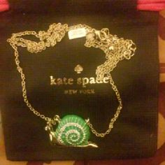 "Kate spade lawn party snail necklace New Authentic with   dust bag   total length 30"" kate spade Jewelry Necklaces"
