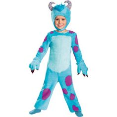Monsters University Classic Sulley Child Halloween Costume with Hands