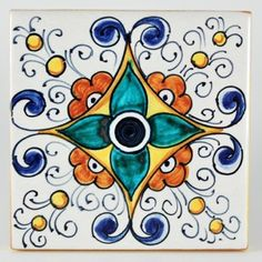 Deruta italian ceramic tiles - Tile 18