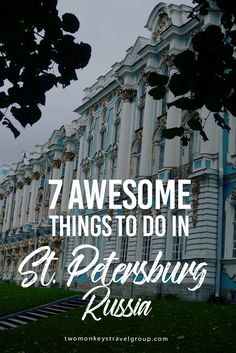 7 Awesome Things to Do in St. Petersburg, Russia When I thought about Russia, I thought of dull, concrete and communist buildings and about the past full of war and terror. When I first arrived in St. Petersburg in 2001, I had to revise my opinion right away. What a beautiful and impressive city. It remains the most beautiful European city I have ever visited, and that includes Paris and Rome. Here is an extended tour of this most northern Metropole in the world.
