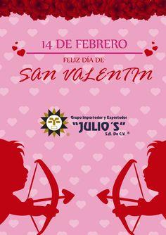 ¡¡Feliz San Valentín!!  Les desea Grupo Julio's :) :)  #amor #parejas #amistad #amigos
