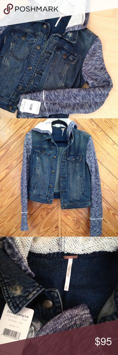 "Indigo rin knit hooded denim jacket w e l c o m e  t o  m y  c l o s e t  Free People denim & knit hooded jacket in indigo rin. Dark blue denim with bluish knit contrast. 100% cotton. Lying flat, length 21"". Armpit to armpit 19"". feel free to ask questions.                  🚫trades, thanks. Free People Jackets & Coats Jean Jackets"
