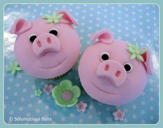 Pink Piggie Cupcakes  ideas to make piggies