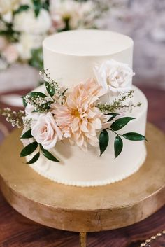 THIS size Wedding Cakes With Flowers, Beautiful Wedding Cakes, Beautiful Cakes, Elegant Wedding Cakes, Cake With Flowers, Floral Wedding Cakes, Flower Cakes, Floral Cake, Elegant Cakes