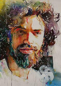 Pierre by David Lobenberg Watercolor ~  x
