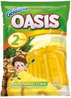 Diseño bolsa empaque OASIS Gelatina sabor Piña