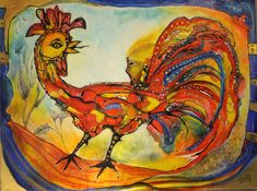 mr marian hergouth, painting, das männliche Prinzip Rooster, Paintings, Artist, Animals, Canvas, Drawing S, Animales, Paint, Animaux