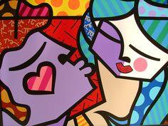 Sweet Kisses by Romero Britto, Limited Edition Print, Giclee on Canvas Zombie Kunst, Arte Zombie, Zombie Art, Arte Pop, Decoupage, Absolut Vodka, Pop Art, Paper Architecture, Tableau Design