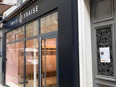 Enseigne Envie de Fraise Paris Decoration, Garage Doors, Paris, Outdoor Decor, Room, Furniture, Home Decor, Glass Display Case, Decor