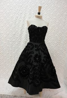 50s Dress / 50s Party Dress / Vintage 1950s by RobinandWrenVintage, $795.00