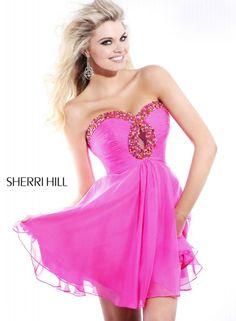 2013 Sherri Hill 2944 Fuchsia Homecoming Dresses