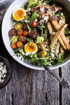 Greek Chicken Gyro Caesar Salad   halfbakedharvest.com @hbharvest