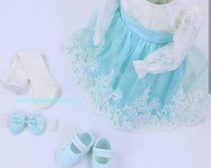 Lace Baptism Dress, Christening Gown Girl, Turquoise Baby Girl Clothing, Baptism Invitation Baby, We Gowns For Girls, Wedding Dresses For Girls, Baby Girl Dresses, Dress Girl, Christening Gowns Girls, Baptism Dress, Rustic Wedding Dresses, Wedding Gowns, Fit And Flare Wedding Dress