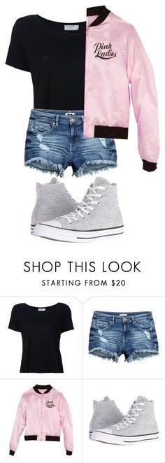 """Untitled #56"" by roryandlogan4 ❤ liked on Polyvore featuring Frame Denim and Converse"