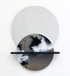 Ceramic Surfaces Reflection Objects by German designer Elisa Strozyk Industrial Mirrors, Industrial Design, Decoration Table, Grafik Design, Wall Sculptures, Resin Art, Installation Art, Wall Decor, Neon