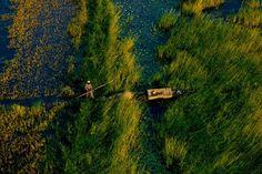 Pirogue sur le fleuve Niger dans la région de Gao au Mali