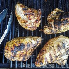 As they  sit and rest I simply marvel at the beauty of these Greek seasoned  breasts.  #foodstyling allyskitchen.com #foodphotography #grilling #chicken #bbq