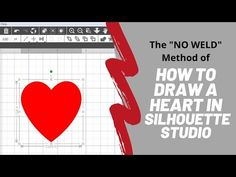 In this video we'll draw a heart quickly and easily in Silhouette Studio, and we'll only use one shape to do it. No multiple shapes, no welding. Silhouette Studio, Draw, Heart, Youtube, Design, To Draw, Sketches, Painting, Tekenen