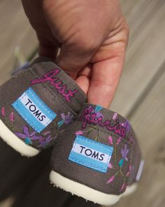 """Custom Toms- Just Married! Wear them on the """"getaway"""" car!"""