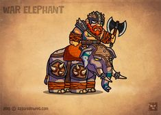 War Elephant - royalty free game art cartoon character for a role-playing RPG game, deadly, strong and big, he will crush anybody in it's way - EatCreatures Elephant Sketch, War Elephant, Game Character, Character Design, Game Card Design, Goku Drawing, Vector Game, 2d Game Art, Tattoo Shirts