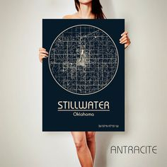 STILLWATER Louisiana CANVAS Map Stillwater Louisiana by ArchTravel