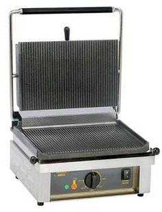 Plaques en fonte permettant une cuisson homogène. Thermostat de fonction:  20 à  300°C. Dimensions (h x l x p): 20.0x44.6x35.0cm. Surface de cuisson: L.36,5 x P.24cm. Alimentation: 230-240V. Poids: 25kg. Puissance: 2500W. Location Grill à paninis à Obermorschwihr (68420) - www.placedelaloc.com