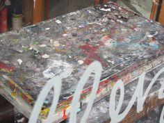 Amsterdam, verfspetters op schilderspalet