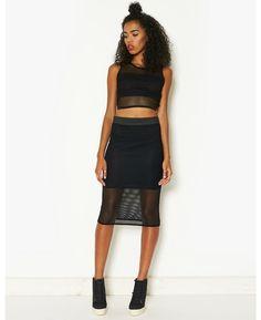 Fenchurch Airtex Co-Ord Mesh Skirt | BANK Fashion