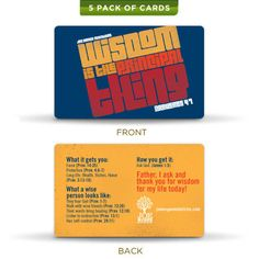 Joe McGee Ministries - Wisdom (Prayer Cards 5-Pack), $3.15 (http://www.joemcgeestore.com/general/wisdom-prayer-cards-5-pack-buy-one-give-one/)
