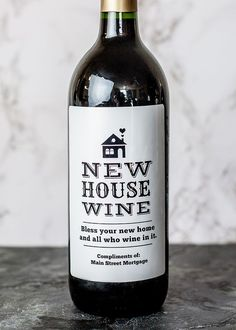 This is a fun way to welcome friends or clients to a new home. Get a custom label made at icustomlabel