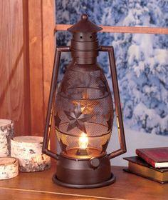 Stars Electric Rustic Lantern Lamp for Lodge Cabin Home Wilderness Table Decor | eBay