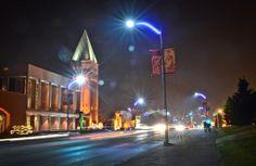 The newest addition to SLU's campus - SLU Blue lights that line that streets near campus!