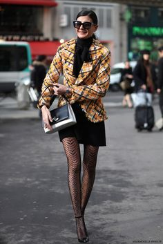 Giovanna Battaglia at Paris fashion week