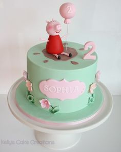 Peppa Pig Second Birthday Cake   https://www.facebook.com/pages/Kellys-Cake-Creations/217684094914304?ref=hl