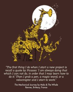 The Mechanical Journey by Malo & The Whale by Rennes, Brittany, France  / Threadless Artist Quotes