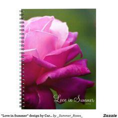 """Love in Summer"" design by Carole Tomlinson Note Book"